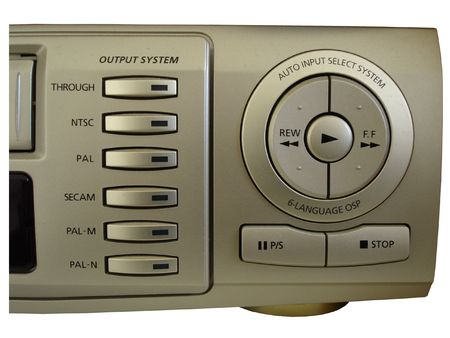 vcr: Worldwide Video - Controls of multi-standard -system VCR