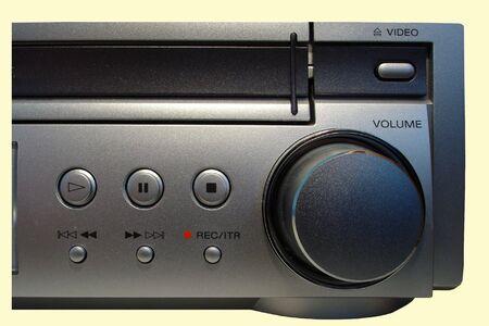 VHS Recorder/Receiver Control Panel 写真素材