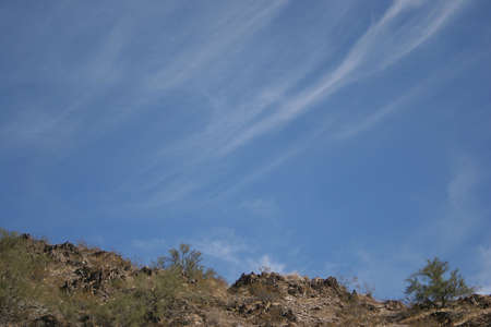 Desert Mountain with High Clouds above Stock Photo - 360499