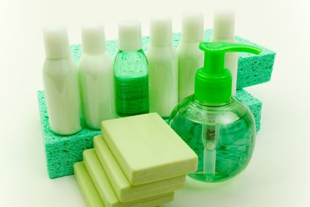 Set of Hygienic Cleansing Supplies photo