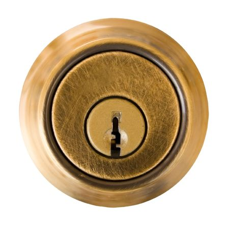 Dead Bolt Lock External Shield with Key Slot. Clipping Path included