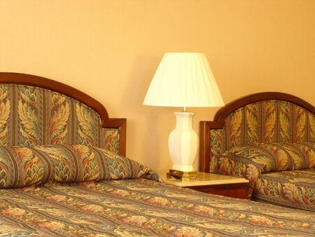 lamp shade: Bedroom Trio Stock Photo