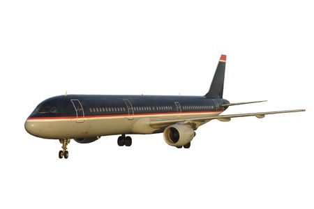 undefined: Airplane. Isolated, Clipping Path included.