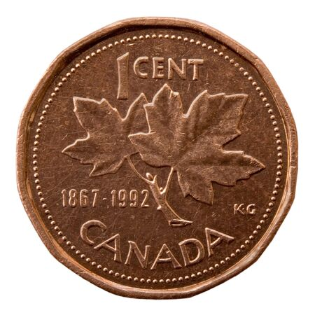 nominal: Canadian One Cent; Isolated, Path included
