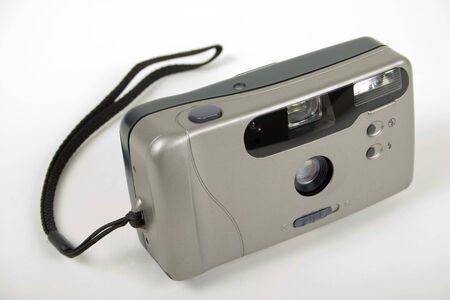 point and shoot: Apuntar y disparar la c�mara port�til en una Lace  Foto de archivo