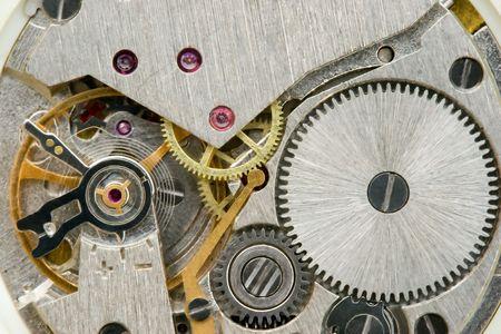 Inside of Wrist Watch Stock Photo