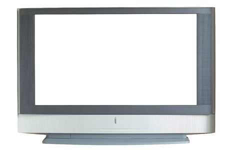 widescreen: Widescreen TV, isolated, Path included