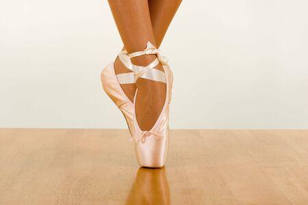 Ballerina Dancing Using Pointers (Ballet footwear)