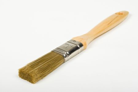 bristle: Paint brush with blend of bristle and polyester fibers
