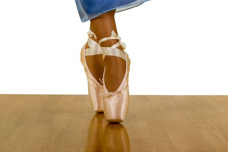 Beauty of Ballerina Dancing Legs, isolated, clipping path included