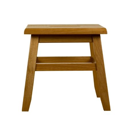 Wooden Stool, Isolated, clipping path included Stock Photo