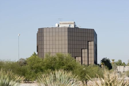 az: Modern Office Building in Phoenix, AZ Stock Photo