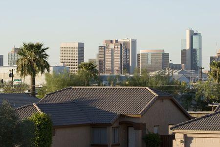 ave fenix: Centro de la ciudad de Phoenix, AZ  Foto de archivo