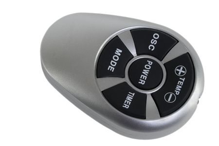 Silver Temperature Remote Control; isolated, clipping path included