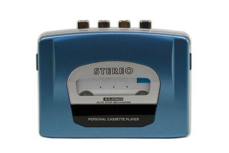個人的なステレオ カセット プレーヤー。ライト シェードと分離されました。クリッピング パスを含める 写真素材
