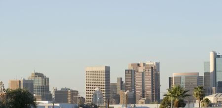 az: Panorama of Downtown of Phoenix, AZ Stock Photo