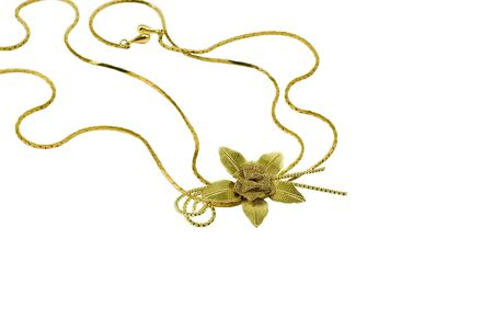 frippery: Jewelry rose on white background