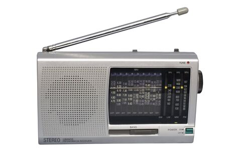 Compact Silver World Radio; isolated, clipping path included