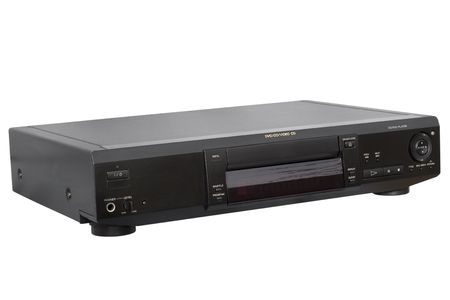 Front Left view of DVD Player; isolated, clipping path included