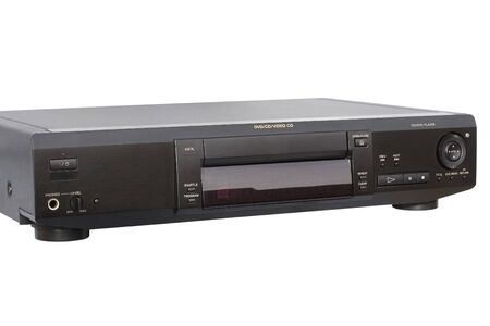Front-left view of DVD Player; isolated, clipping path included