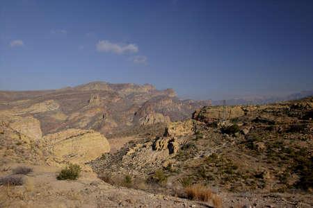 Apache Trail thru steep-sided Fish Creek Hill; Arizona in Winter. Stock Photo - 735575