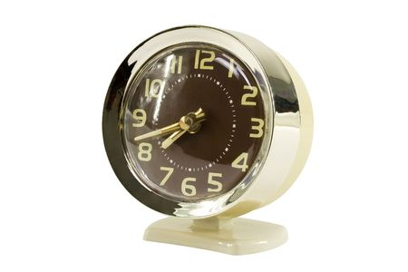 Front side of alarm clock;  isolated, clipping path included