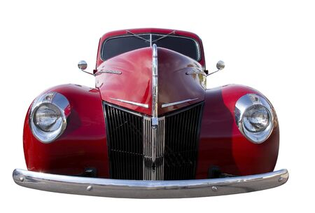 undefined: Body of Red Retro Car; isolated, clipping path included Stock Photo