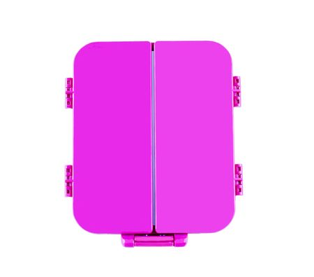 Pink mirror with shuttersdoors; isolated, clipping path included; good conceptual shot for many kinds of uses
