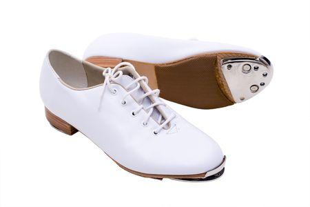 taps: Zapatos para la danza del golpecito Foto de archivo