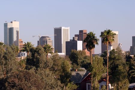 Panorama of Downtown of Phoenix, AZ photo