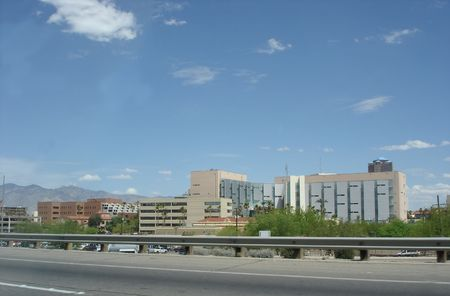 az: Downtown of Tucson, AZ, as seen from Interstate-10