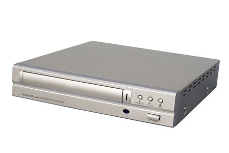 Silver DVD Player; isolated, clipping path included Stock Photo