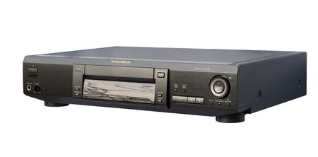 Black DVD Player; isolated, clipping path included