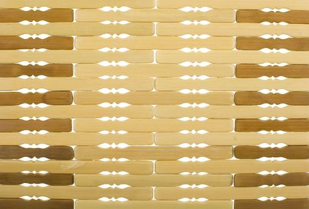 Bamboo Trivet Background; close up, horizontal view Stock Photo - 957345