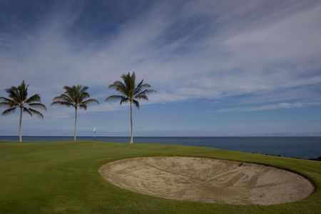 Hawaii Golf Course on Lava Ocean Shore of Kona Island Stock Photo - 969917