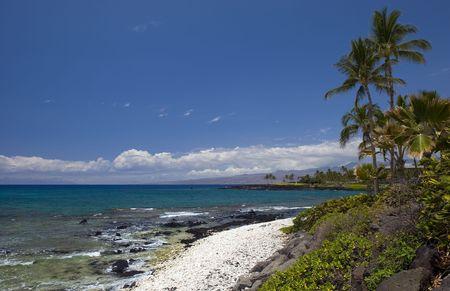 Azure Hawaiian Vulcanic Shore of Kona Island photo