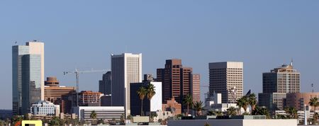 Highrise Towers of Glass, Steel and Concrete, Phoenix, AZ Stock Photo - 1318772