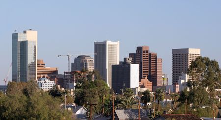 az: Skyscrapers in Downtown of Phoenix, AZ Stock Photo