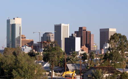 ave fenix: Rascacielos en el centro de Phoenix, AZ