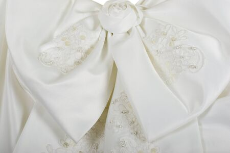 Wedding Dress Bow Close-up Stock fotó