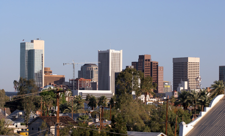 Skyscrapers in Downtown of Phoenix, AZ photo