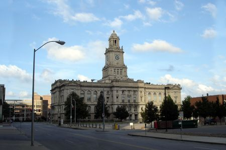 ia: Old City Hall in Downtown of Des Moines, IA, USA