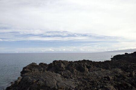 kona: Kona Island Volcanic Lava Shore, Hawaii