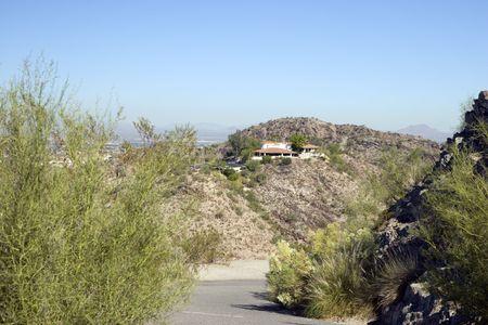 ironwood: Phoenix Desert Hills Housing as seen from North Mountain, Arizona