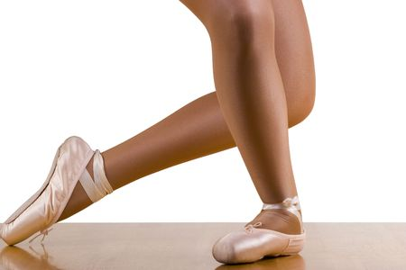 reverence: Caught movements of ballet workout; reverence grande; focus on working leg