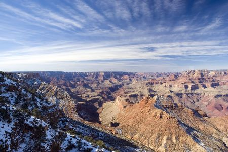 View from Watch Tower on Gramd Canyon in Winter, Arizona Stock Photo - 2292517