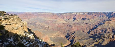 Panoramic View from Mother Point on Grand Canyon in Winter, Arizona Stock Photo - 2300547