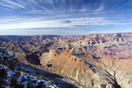 View from Watch Tower on Gramd Canyon in Winter, Arizona Stock Photo - 2322784