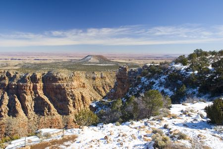 Grand Canyon in Winter as seen from Desert View Point, Arizona Stock Photo - 2329946