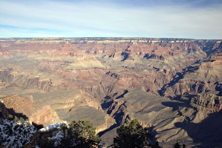 View from Mother Point on Grand Canyon in Winter, Arizona Stock Photo - 2329951